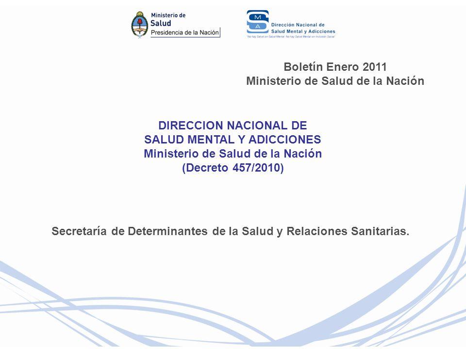 Boletín Enero 2011 Ministerio de Salud de la Nación