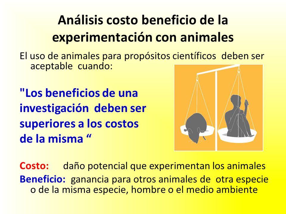 Análisis costo beneficio de la experimentación con animales