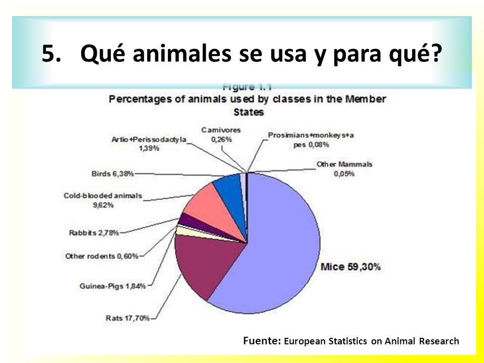 5. Qué animales se usa y para qué
