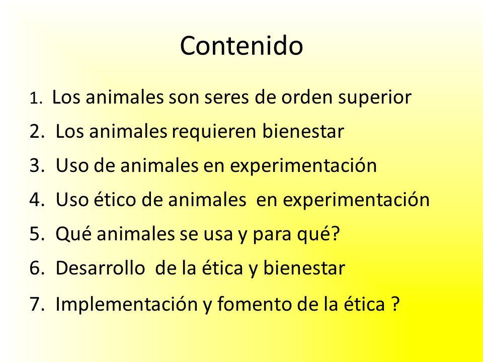 Contenido 2. Los animales requieren bienestar
