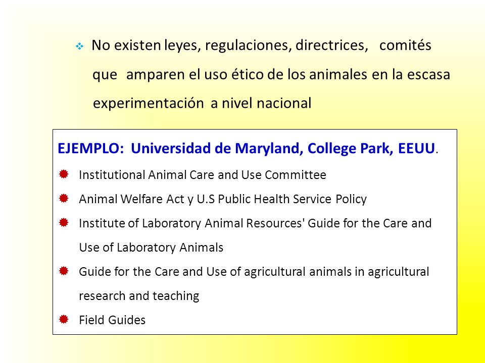 EJEMPLO: Universidad de Maryland, College Park, EEUU.