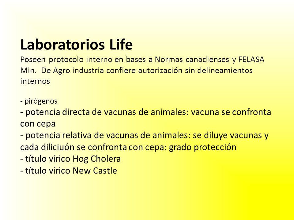 Laboratorios Life Poseen protocolo interno en bases a Normas canadienses y FELASA Min.