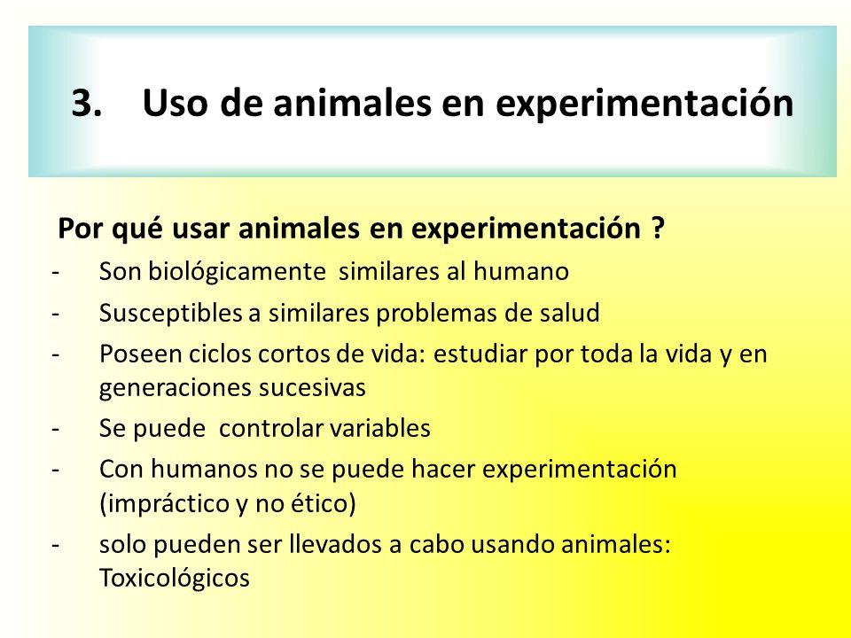 3. Uso de animales en experimentación