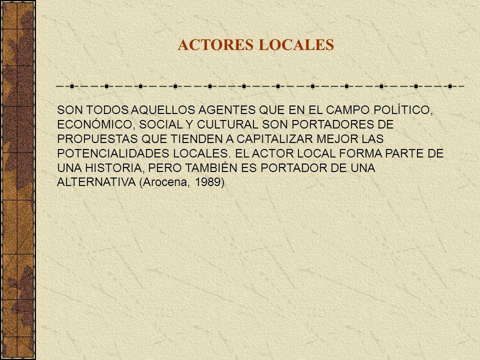 ACTORES LOCALES