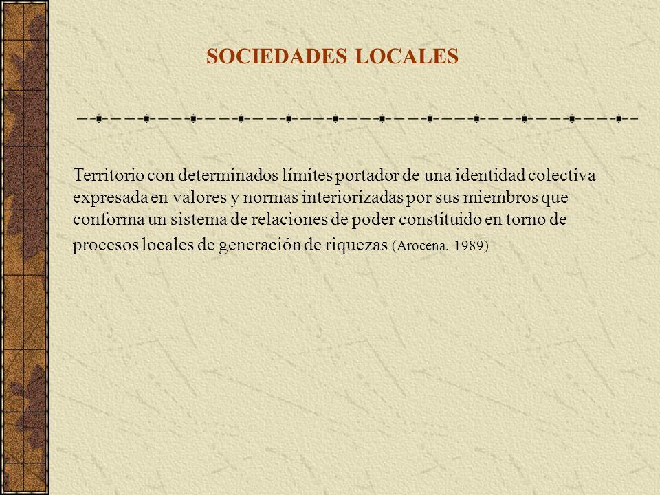 SOCIEDADES LOCALES