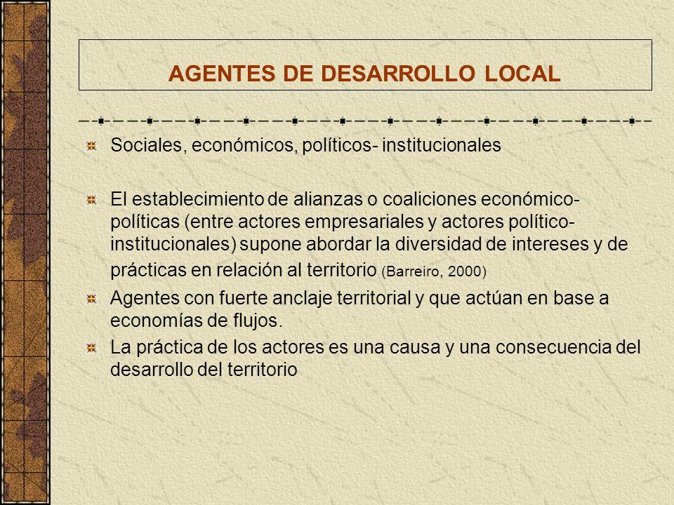 AGENTES DE DESARROLLO LOCAL