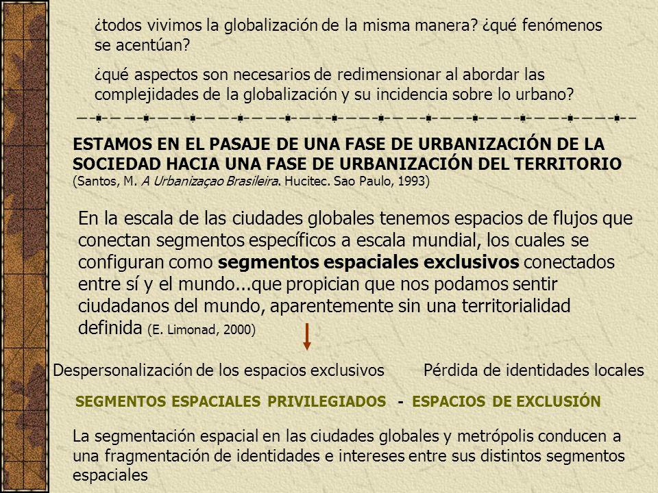 ¿todos vivimos la globalización de la misma manera