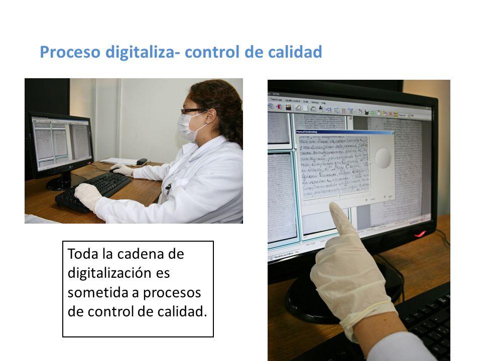 Proceso digitaliza- control de calidad