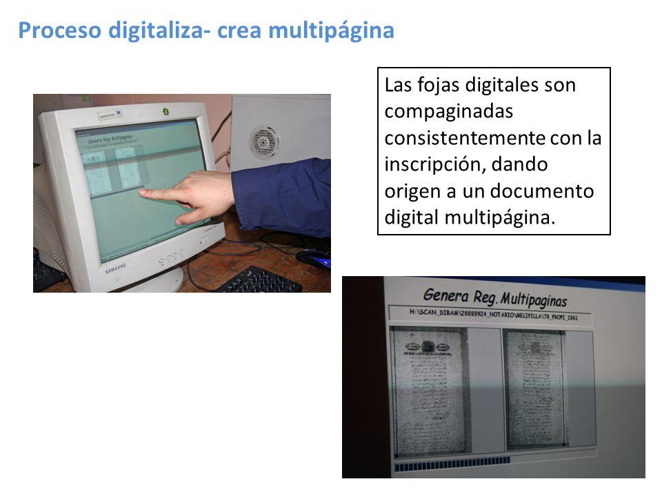 Proceso digitaliza- crea multipágina