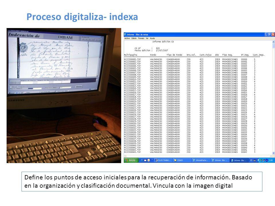 Proceso digitaliza- indexa
