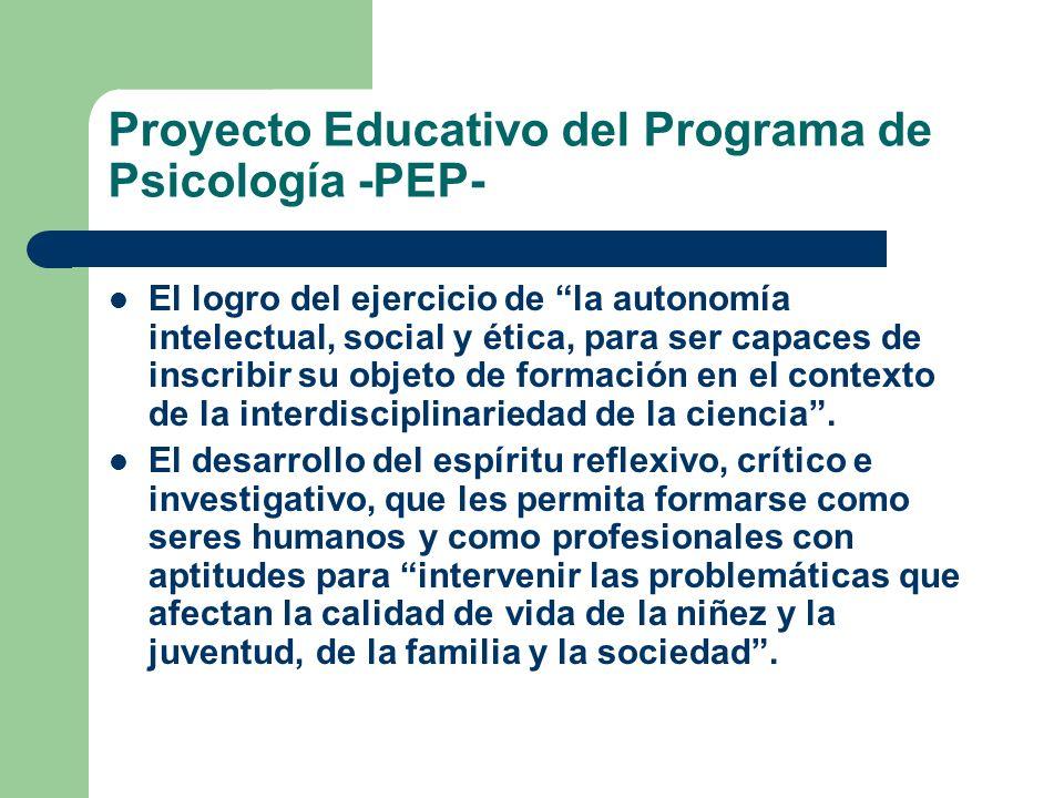 Proyecto Educativo del Programa de Psicología -PEP-