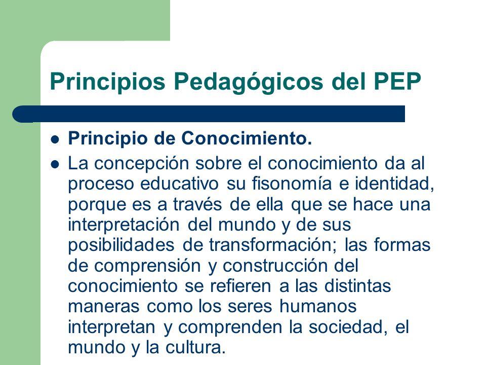 Principios Pedagógicos del PEP