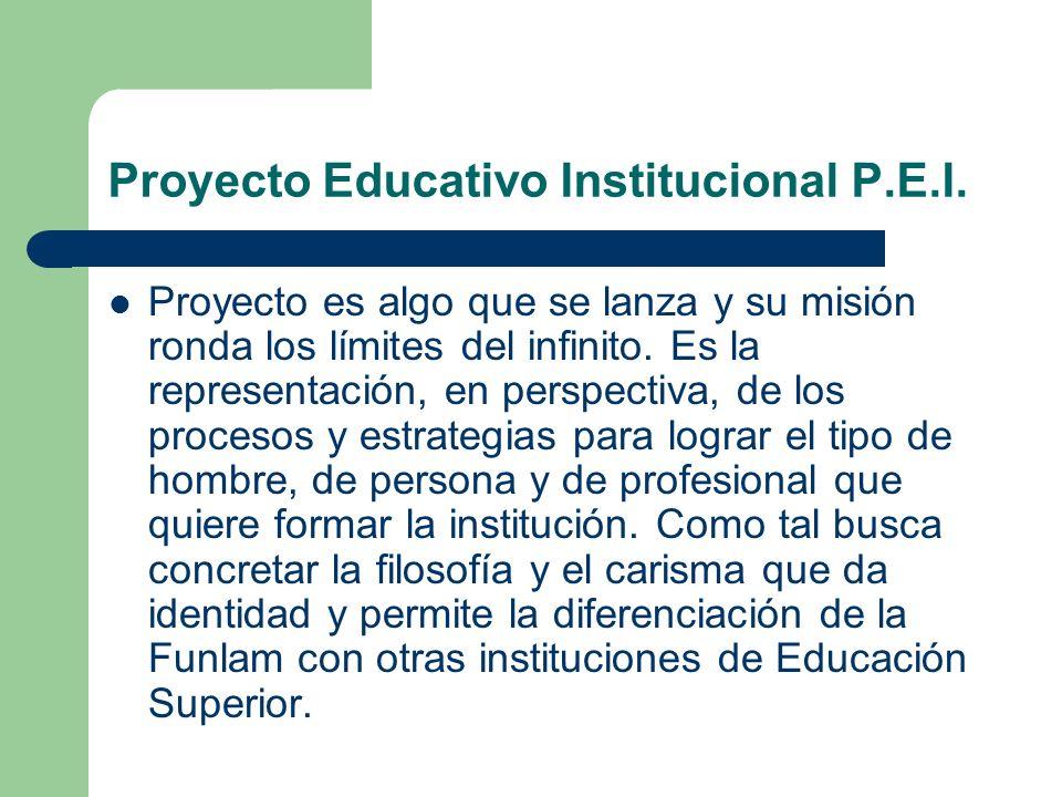 Proyecto Educativo Institucional P.E.I.
