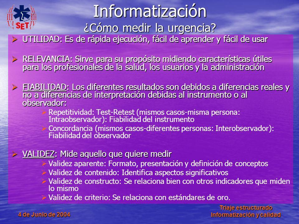 Informatización ¿Cómo medir la urgencia
