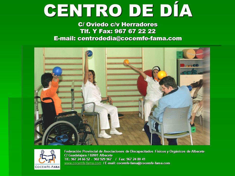CENTRO DE DÍA C/ Oviedo c/v Herradores Tlf