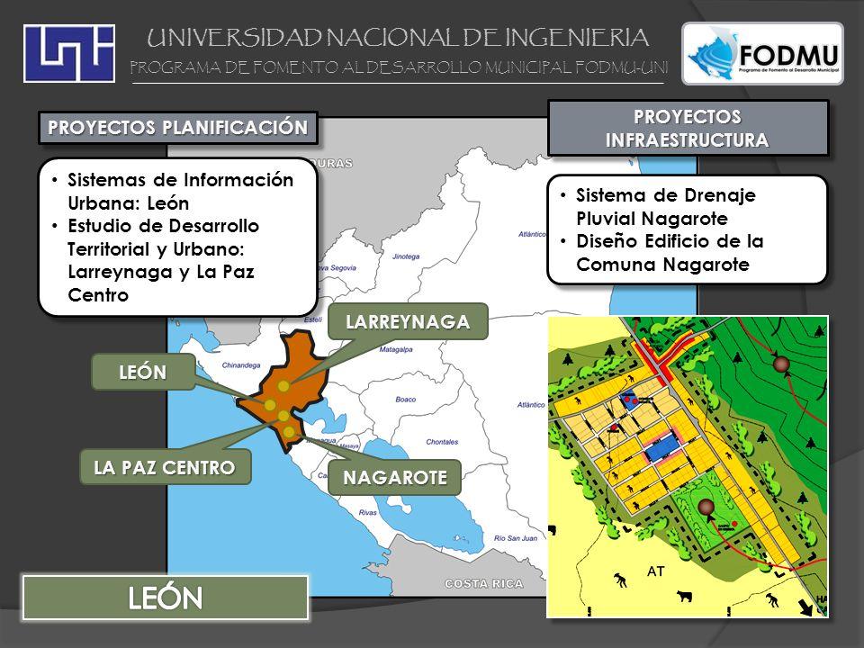 LEÓN UNIVERSIDAD NACIONAL DE INGENIERIA PROYECTOS INFRAESTRUCTURA
