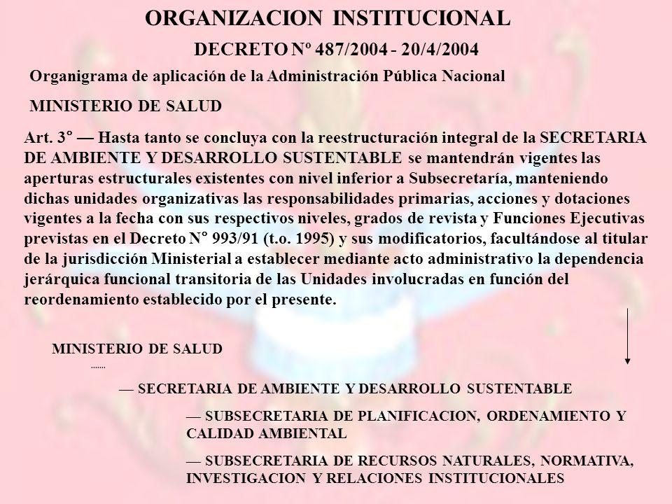ORGANIZACION INSTITUCIONAL