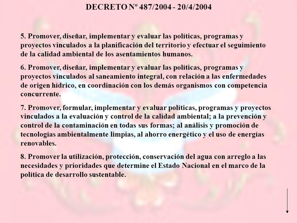 DECRETO Nº 487/2004 - 20/4/2004