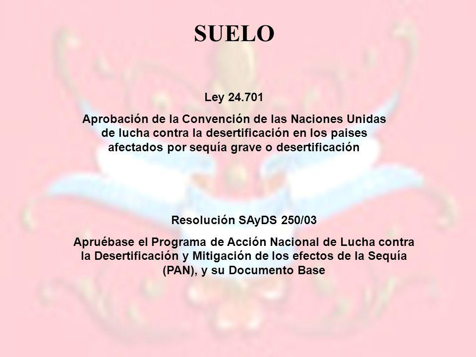 SUELO Ley 24.701.