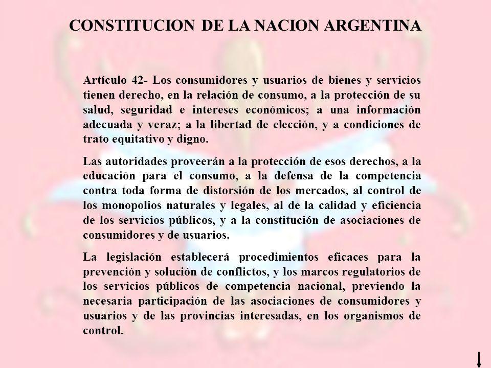 CONSTITUCION DE LA NACION ARGENTINA