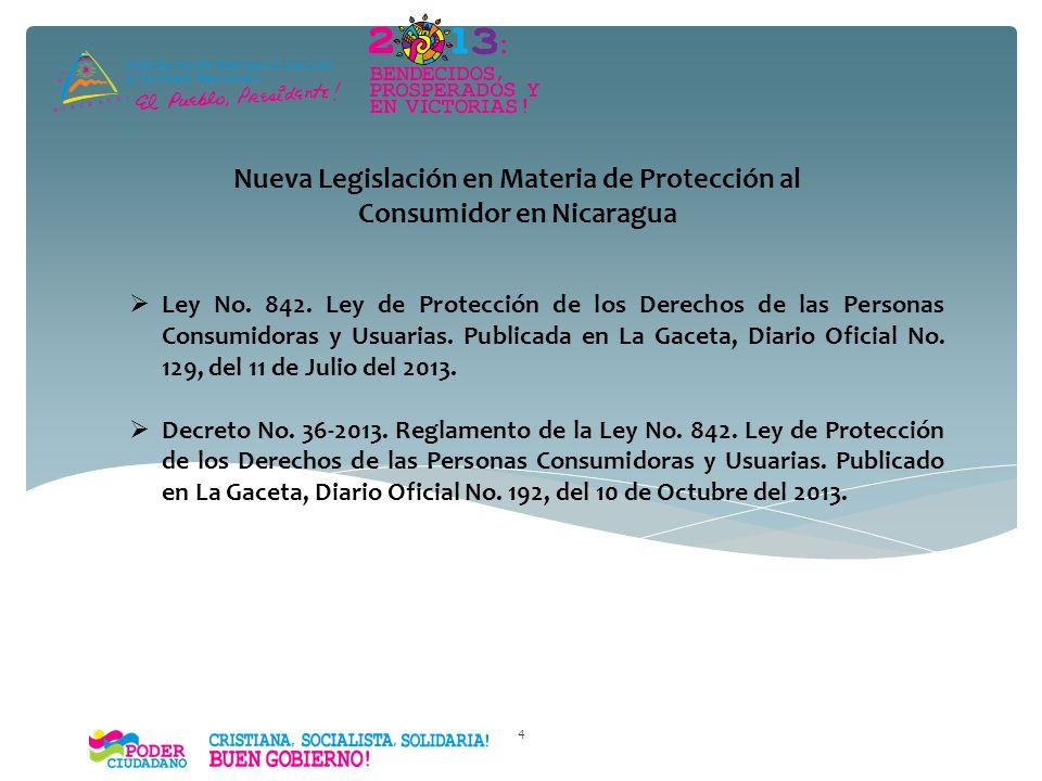 Nueva Legislación en Materia de Protección al Consumidor en Nicaragua