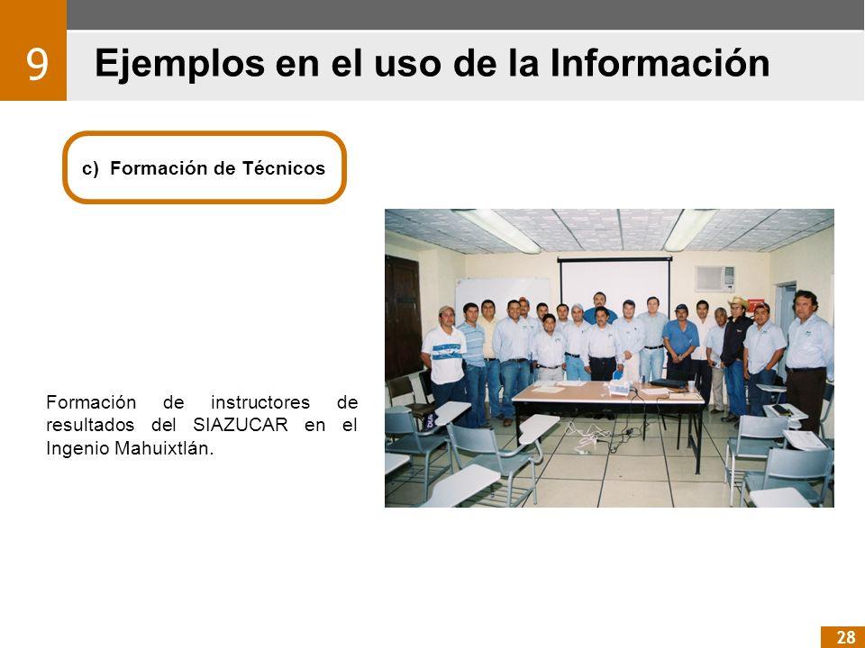c) Formación de Técnicos