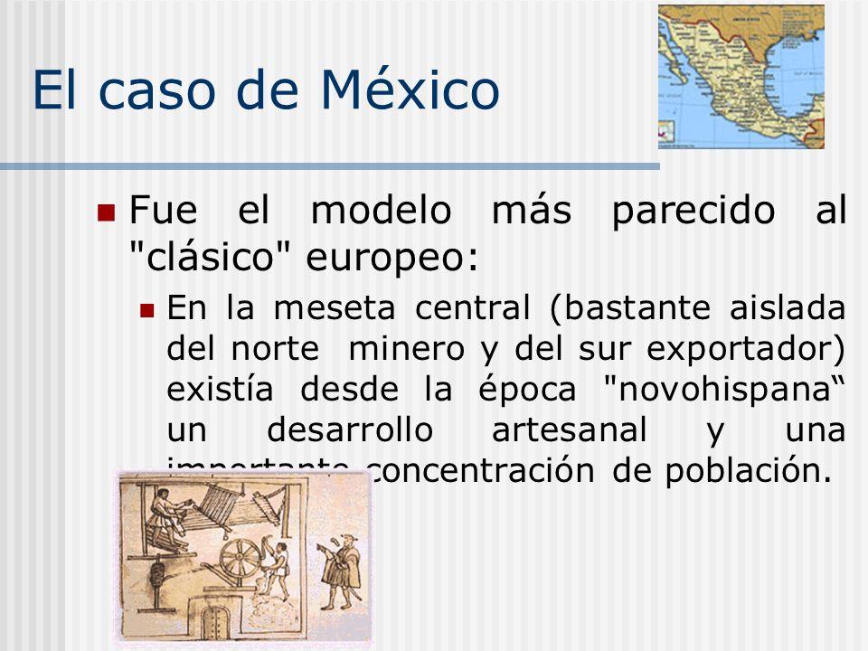 El caso de México Fue el modelo más parecido al clásico europeo:
