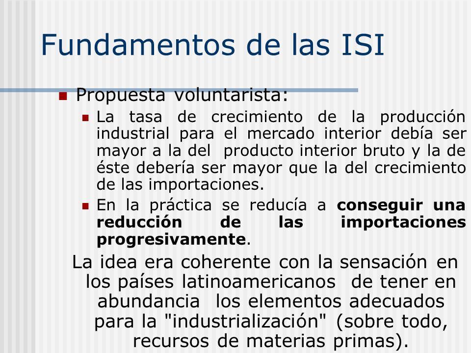Fundamentos de las ISI Propuesta voluntarista: