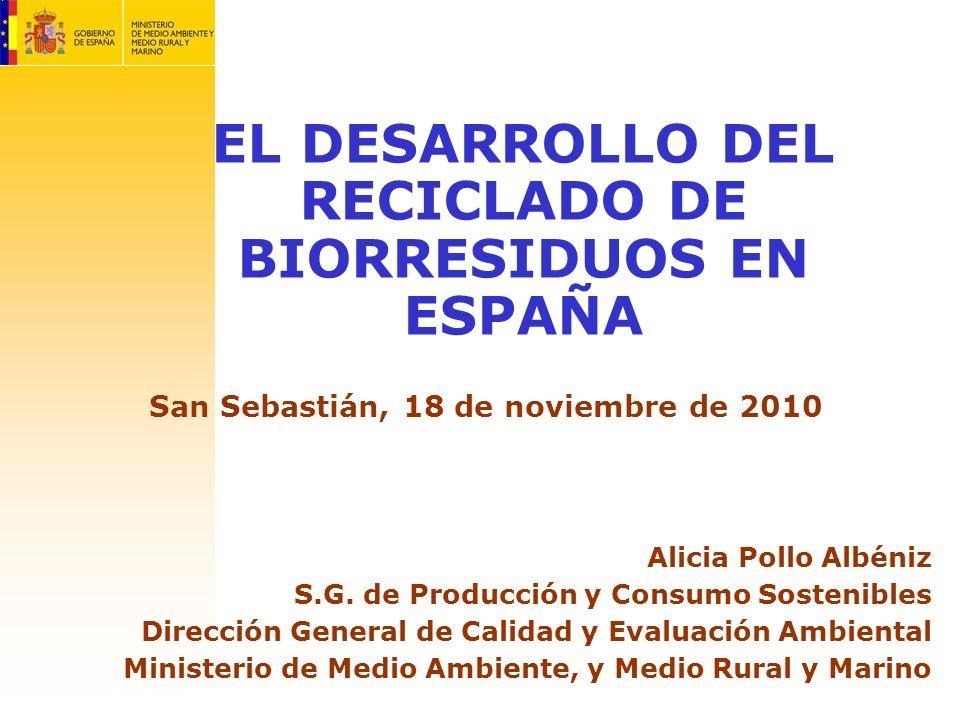 EL DESARROLLO DEL RECICLADO DE BIORRESIDUOS EN ESPAÑA