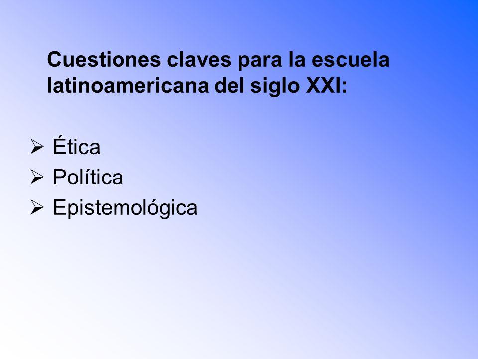 Cuestiones claves para la escuela latinoamericana del siglo XXI: