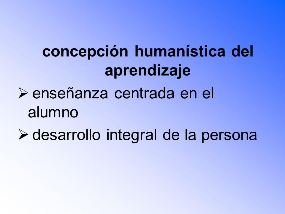 concepción humanística del aprendizaje