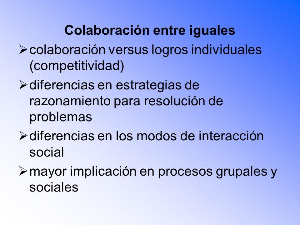 Colaboración entre iguales