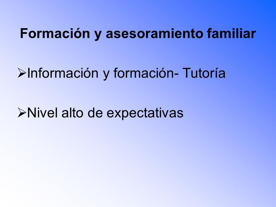 Formación y asesoramiento familiar