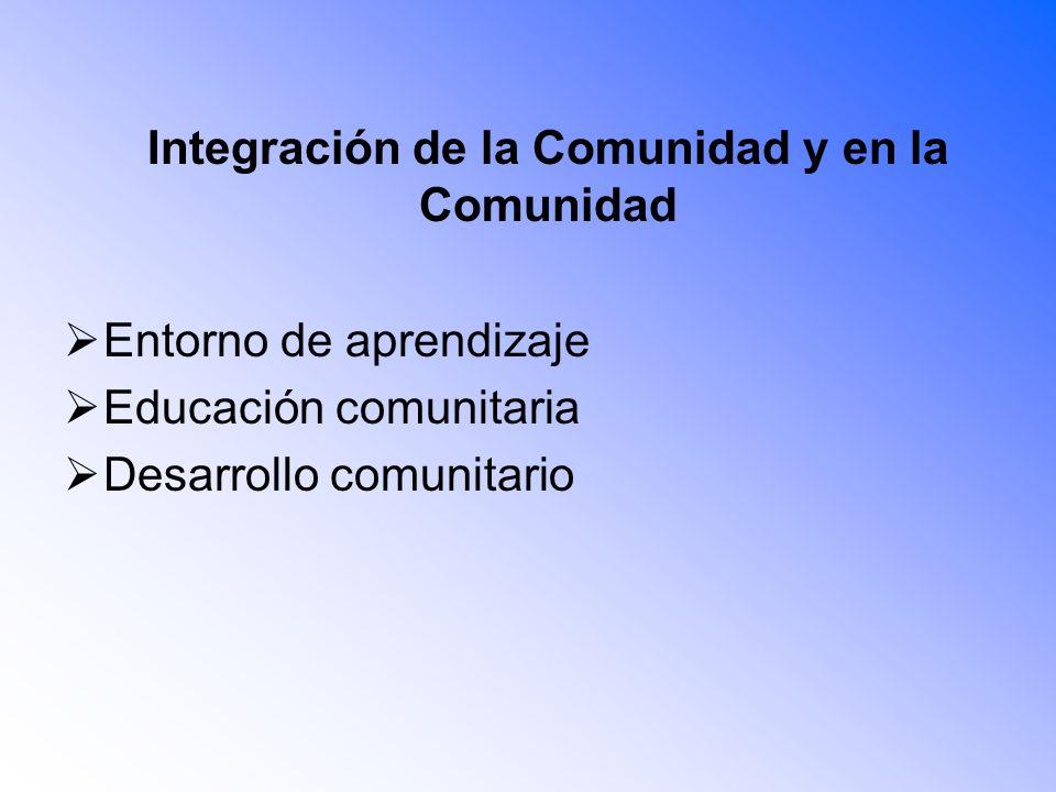 Integración de la Comunidad y en la Comunidad