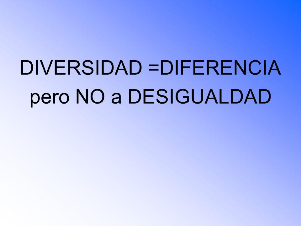 DIVERSIDAD =DIFERENCIA