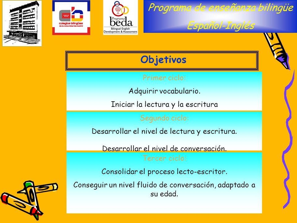 Programa de enseñanza bilingüe Español-Inglés