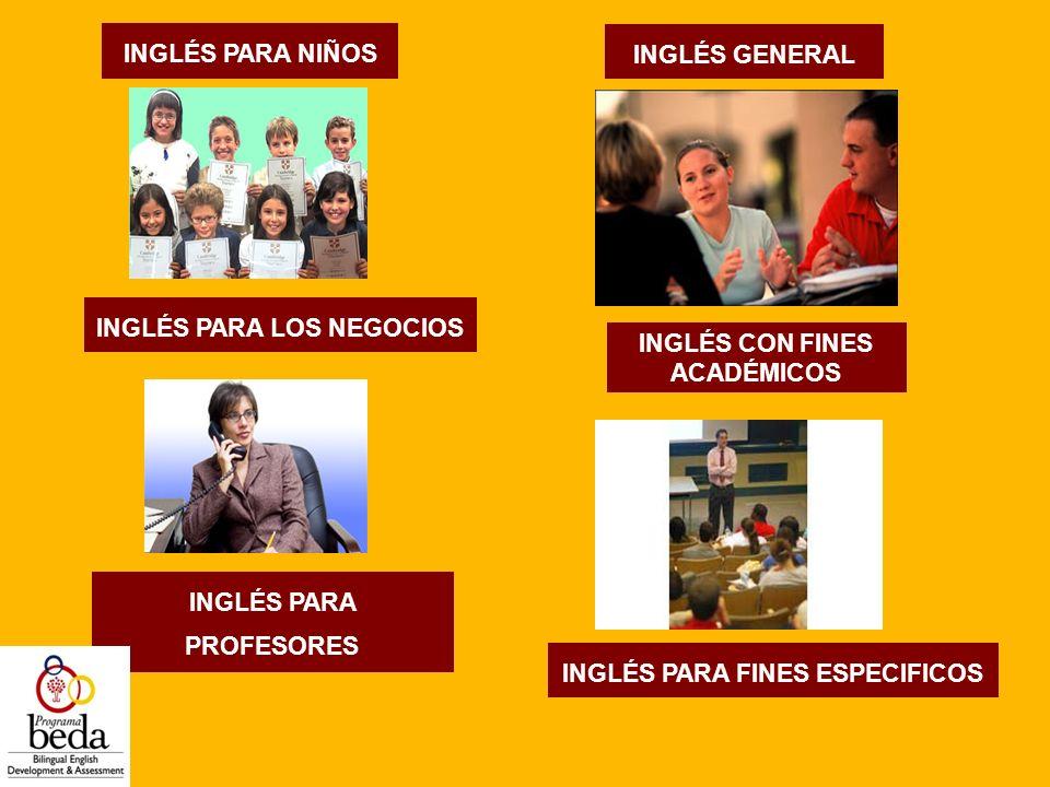 INGLÉS PARA LOS NEGOCIOS INGLÉS CON FINES ACADÉMICOS