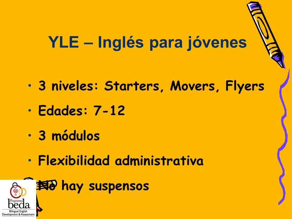 YLE – Inglés para jóvenes