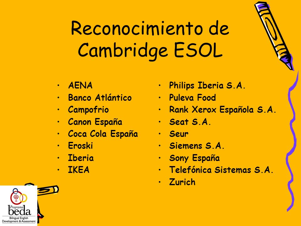 Reconocimiento de Cambridge ESOL