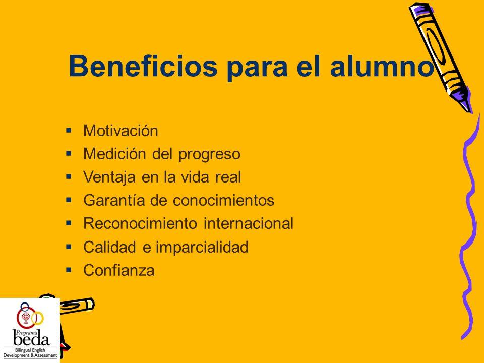 Beneficios para el alumno