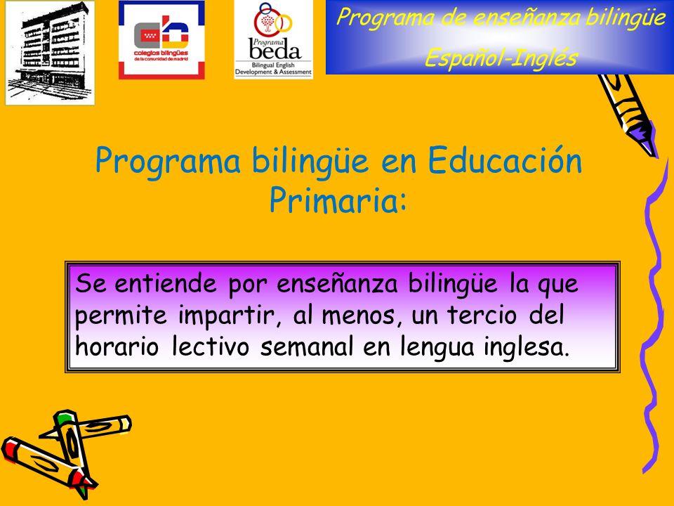 Programa bilingüe en Educación Primaria: