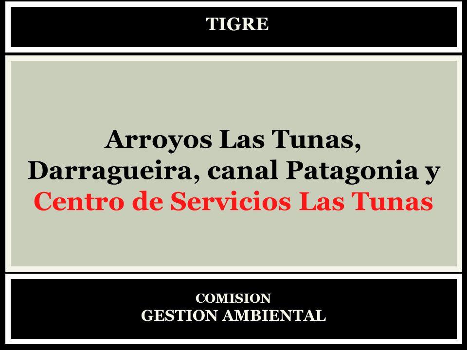 Darragueira, canal Patagonia y Centro de Servicios Las Tunas