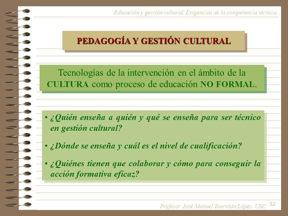 PEDAGOGÍA Y GESTIÓN CULTURAL