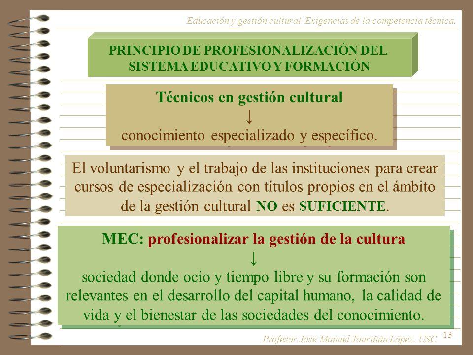 Técnicos en gestión cultural