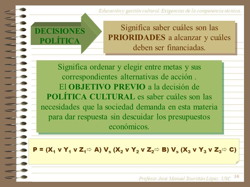 P = (X1 v Y1 v Z1 A) Vs (X2 v Y2 v Z2 B) Vs (X3 v Y3 v Z3 C)