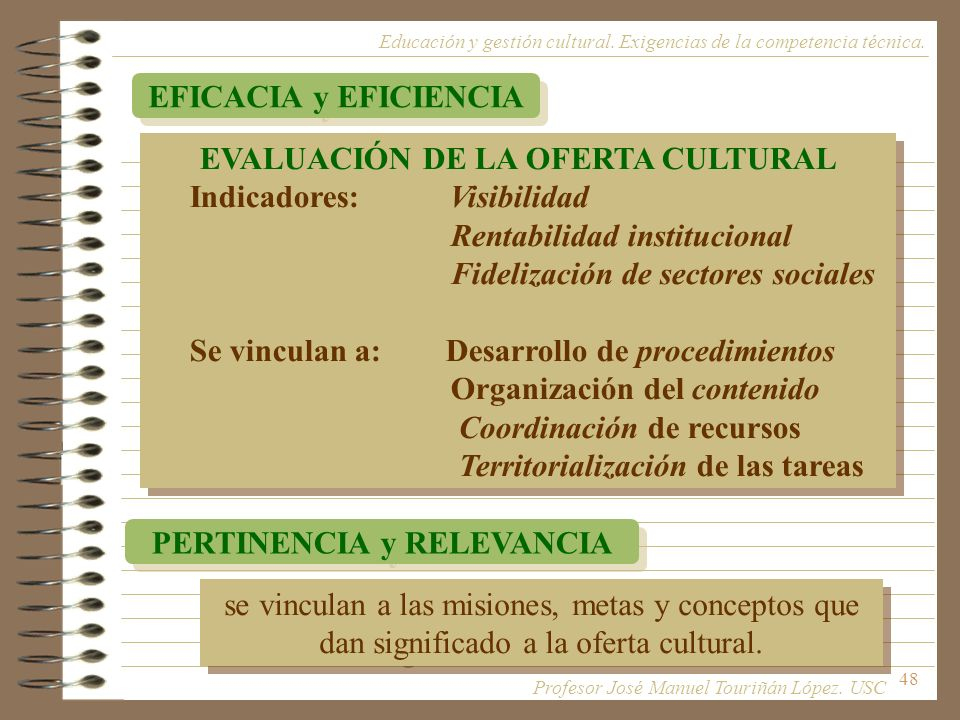 EVALUACIÓN DE LA OFERTA CULTURAL PERTINENCIA y RELEVANCIA