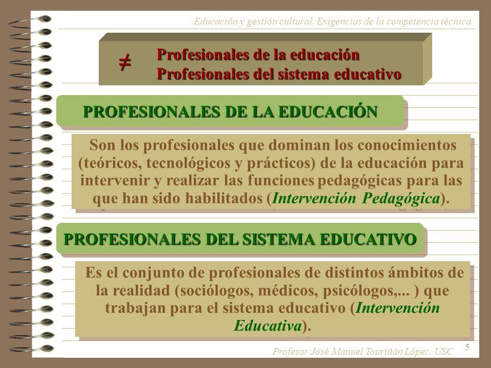 PROFESIONALES DE LA EDUCACIÓN PROFESIONALES DEL SISTEMA EDUCATIVO