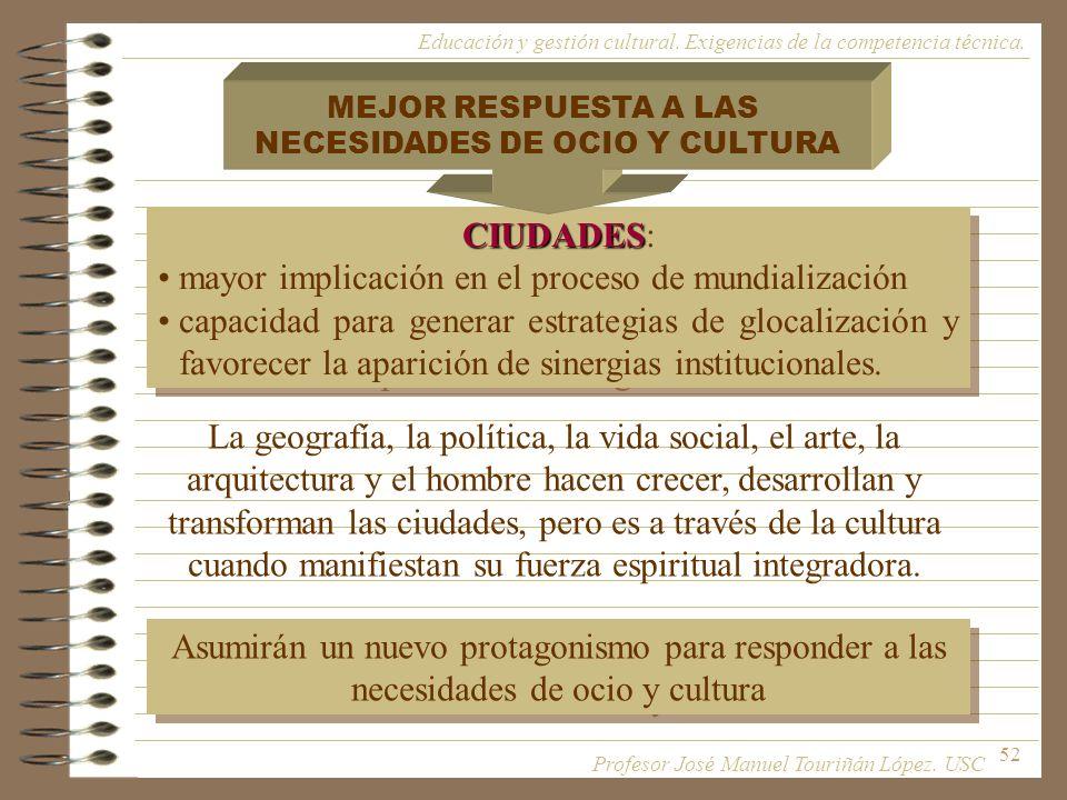 NECESIDADES DE OCIO Y CULTURA