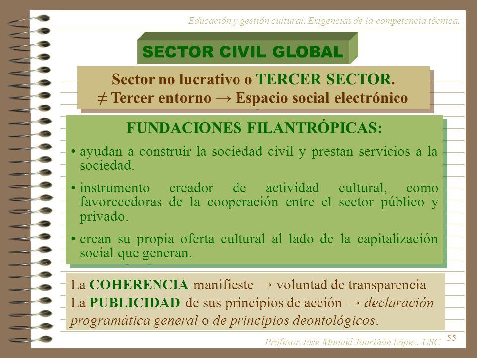 Sector no lucrativo o TERCER SECTOR.