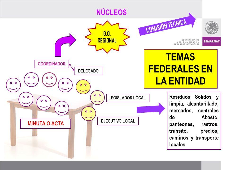 TEMAS FEDERALES EN LA ENTIDAD